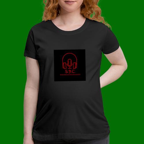 SPC Logo Black/Red - Women's Maternity T-Shirt