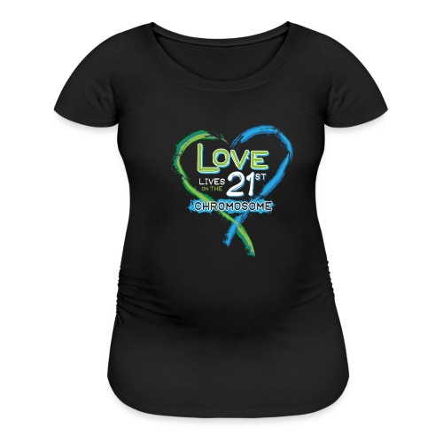 Down Syndrome Love (Blue/White) - Women's Maternity T-Shirt