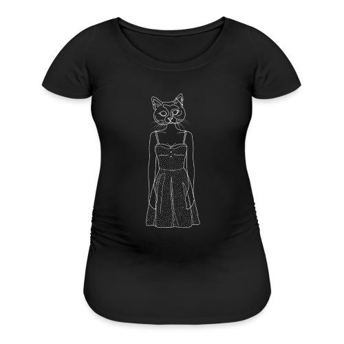 Hipster Cat - Women's Maternity T-Shirt