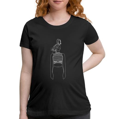 Hipster Rabbit White - Women's Maternity T-Shirt