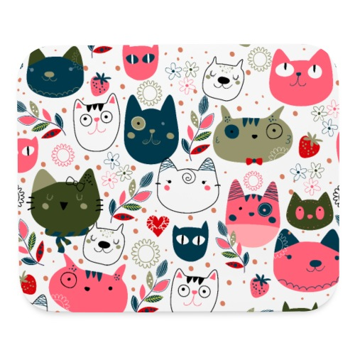 cute cats heads - Mouse pad Horizontal