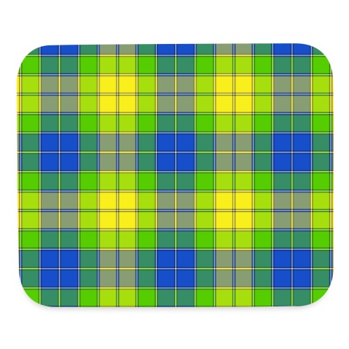 Yellow plaid - Mouse pad Horizontal
