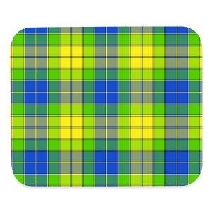 Yellow plaid - Mouse pad Horizontal