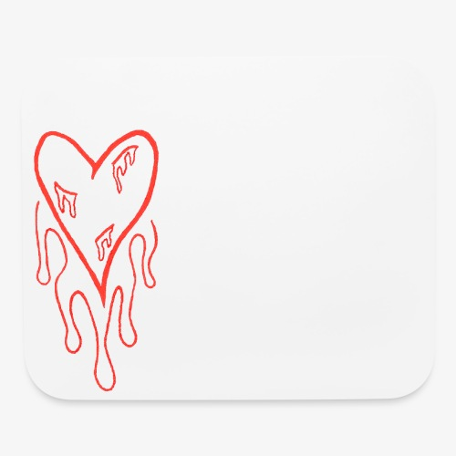 bleeding heart - Mouse pad Horizontal