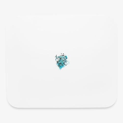 Blue Skull - Mouse pad Horizontal