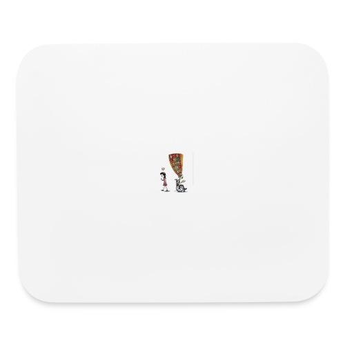 Less mobile more books - Mouse pad Horizontal