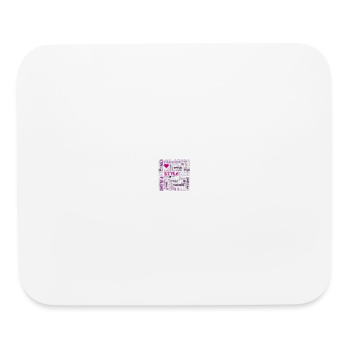 fashion word collage - Mouse pad Horizontal