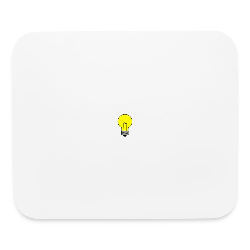 Thinking light bulb merch - Mouse pad Horizontal