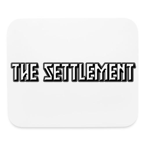 Band Name (Dark, One-Color)   The Settlement - Mouse pad Horizontal