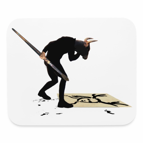 Anguish Artist and AntlerGirl - Mouse pad Horizontal