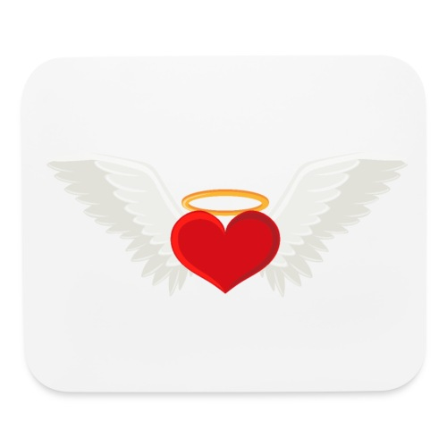 Winged heart - Angel wings - Guardian Angel - Mouse pad Horizontal