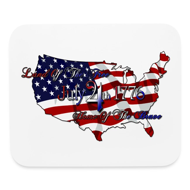 awesome quotes land of the home of the brave mouse pad