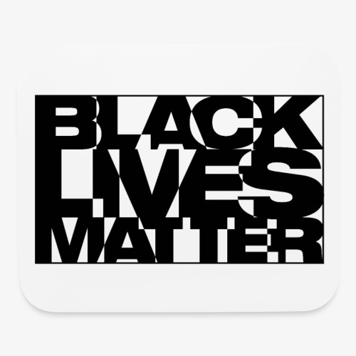 Black Live Matter Chaotic Typography - Mouse pad Horizontal
