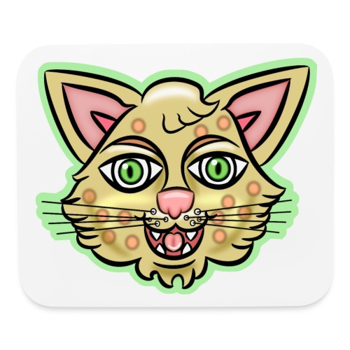 Happy Cat Gold - Mouse pad Horizontal