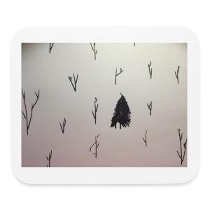 Black and White lone Tree. - Mouse pad Horizontal