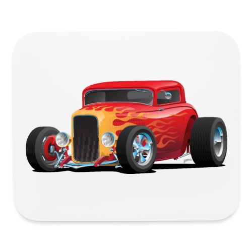 Classic Bold Red Custom Street Rod - Mouse pad Horizontal