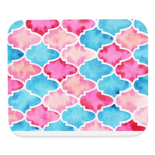 Moroccan tiles - Mouse pad Horizontal