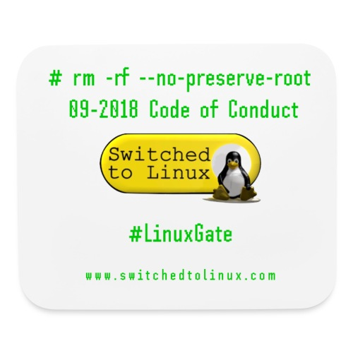 rm Linux Code of Conduct - Mouse pad Horizontal
