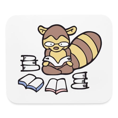 Reading Raccoon - Mouse pad Horizontal