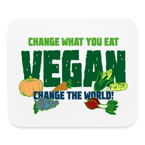 Change what you eat, change the world - Vegan - Mouse pad Horizontal