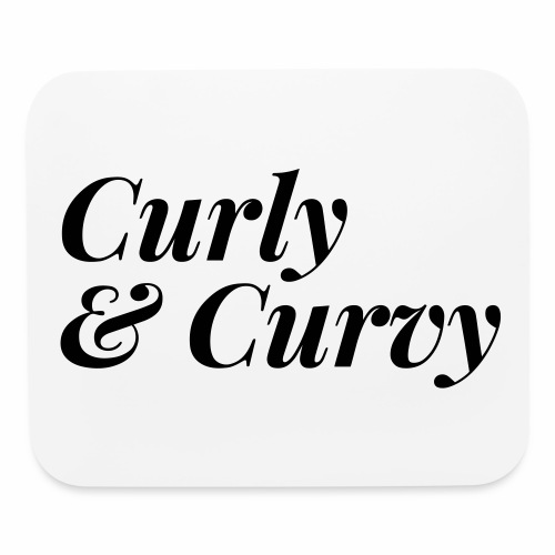 Curly & Curvy Women's Tee - Mouse pad Horizontal