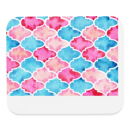 Moroccan tiles - Mouse pad Horizontal
