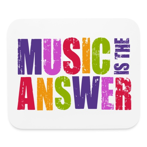 music is the answer - Mouse pad Horizontal