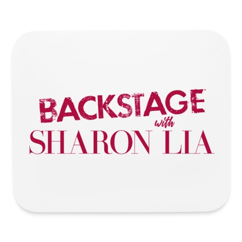 Backstage With Sharon Lia - Red - Mouse pad Horizontal