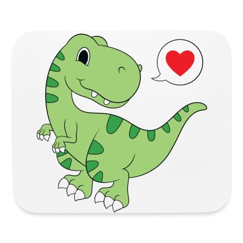Dinosaur Love - Mouse pad Horizontal