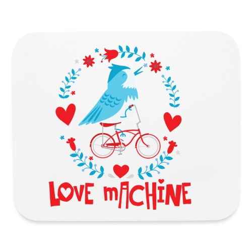 Cute Love Machine Bird - Mouse pad Horizontal