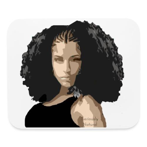 Sabrina in black tee - Mouse pad Horizontal