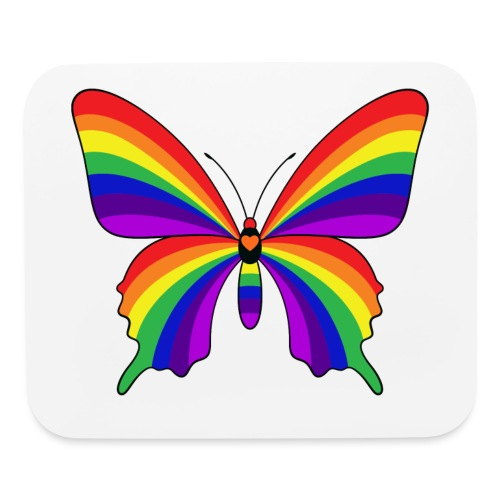 Rainbow Butterfly - Mouse pad Horizontal