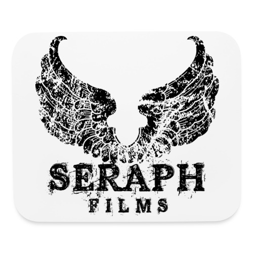 seraph logo square black large png - Mouse pad Horizontal
