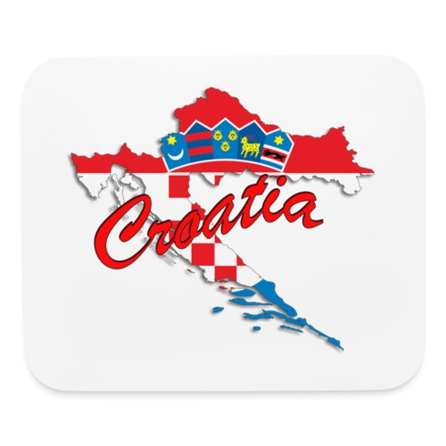 Croatia Football Team Colours T-Shirt Treasure Des - Mouse pad Horizontal