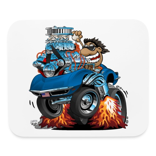 Classic '69 American Sports Car Cartoon - Mouse pad Horizontal