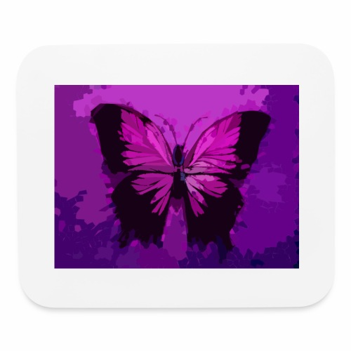 Fuchsia Pink Butterfly - Mouse pad Horizontal