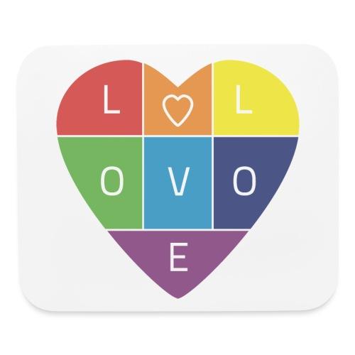 Rainbow Heart - Mouse pad Horizontal