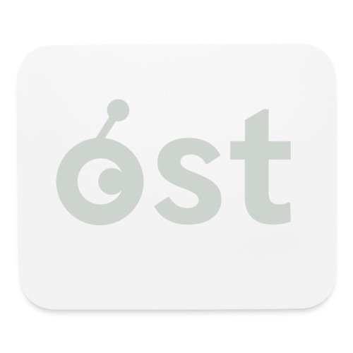 ost logo in grey - Mouse pad Horizontal