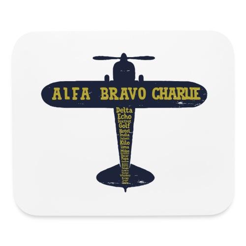 International Phonetic Alphabet Airplane - Mouse pad Horizontal