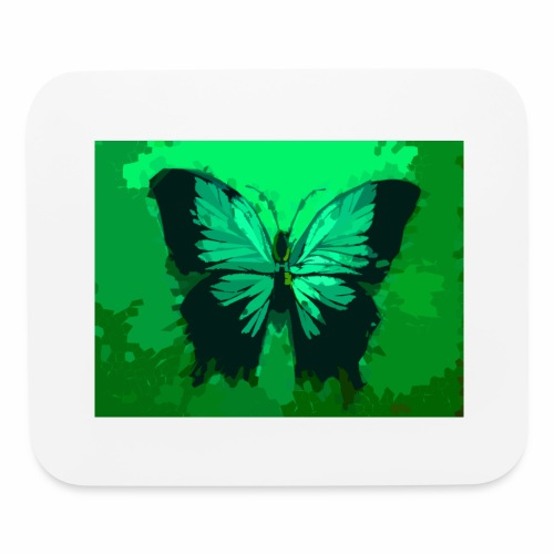 Light Green Butterfly - Mouse pad Horizontal