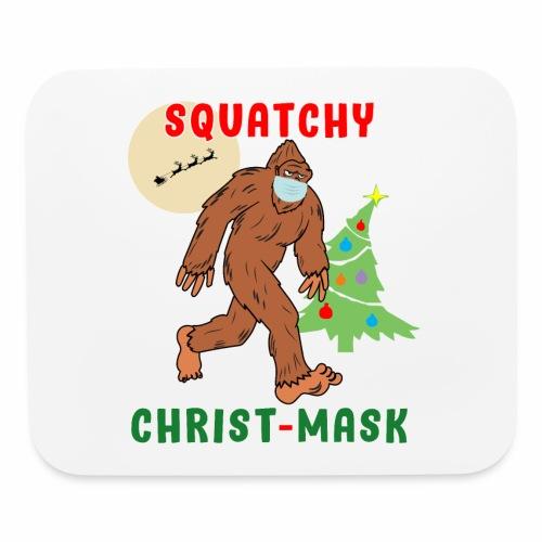 Bigfoot Squatchy Christmas Mask Social Distance. - Mouse pad Horizontal