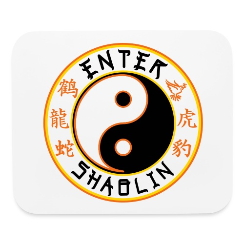 Enter Shaolin Main Logo | Black - Mouse pad Horizontal
