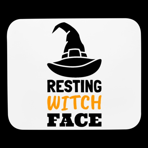 Resting Witch Face | Funny Halloween - Mouse pad Horizontal