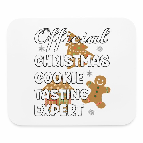 Funny Official Christmas Cookie Tasting Expert. - Mouse pad Horizontal