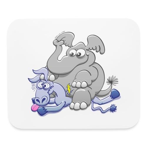 Elephant Sitting on Donkey and Squashing it - Mouse pad Horizontal