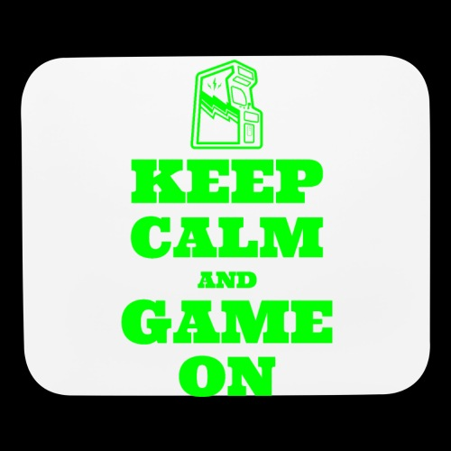 Keep Calm and Game On | Retro Gamer Arcade - Mouse pad Horizontal