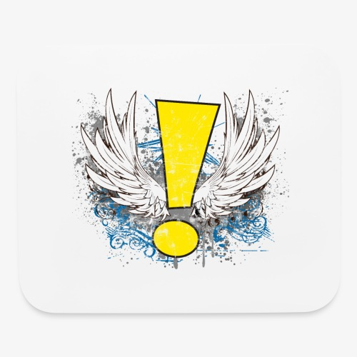 Winged Whee! Exclamation Point - Mouse pad Horizontal