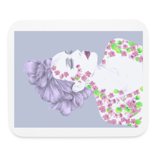 The Girl With The Flower Tattoo - Mouse pad Horizontal