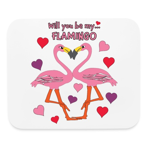 Will You be my Flamingo Valentine Kisses - Mouse pad Horizontal
