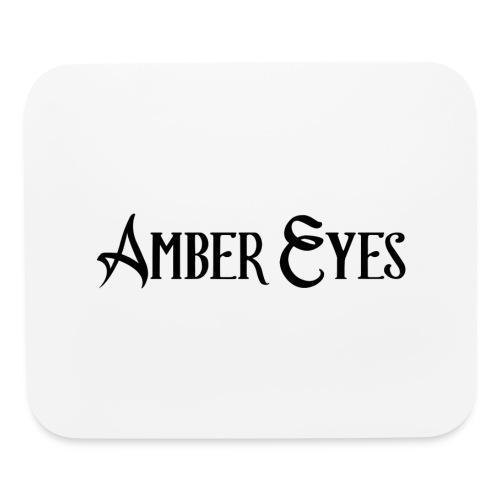 AMBER EYES LOGO IN BLACK - Mouse pad Horizontal